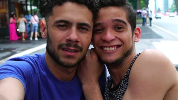 Homosexual Couple Taking a Selfie