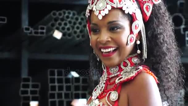 Brazil nő ünneplő Carnaval