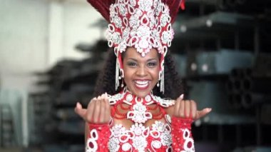Brazilian Woman Welcome Tourists at Carnaval