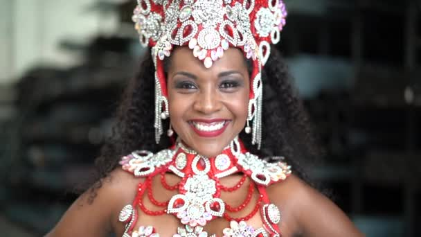 Carnaval brazil asszony portréja