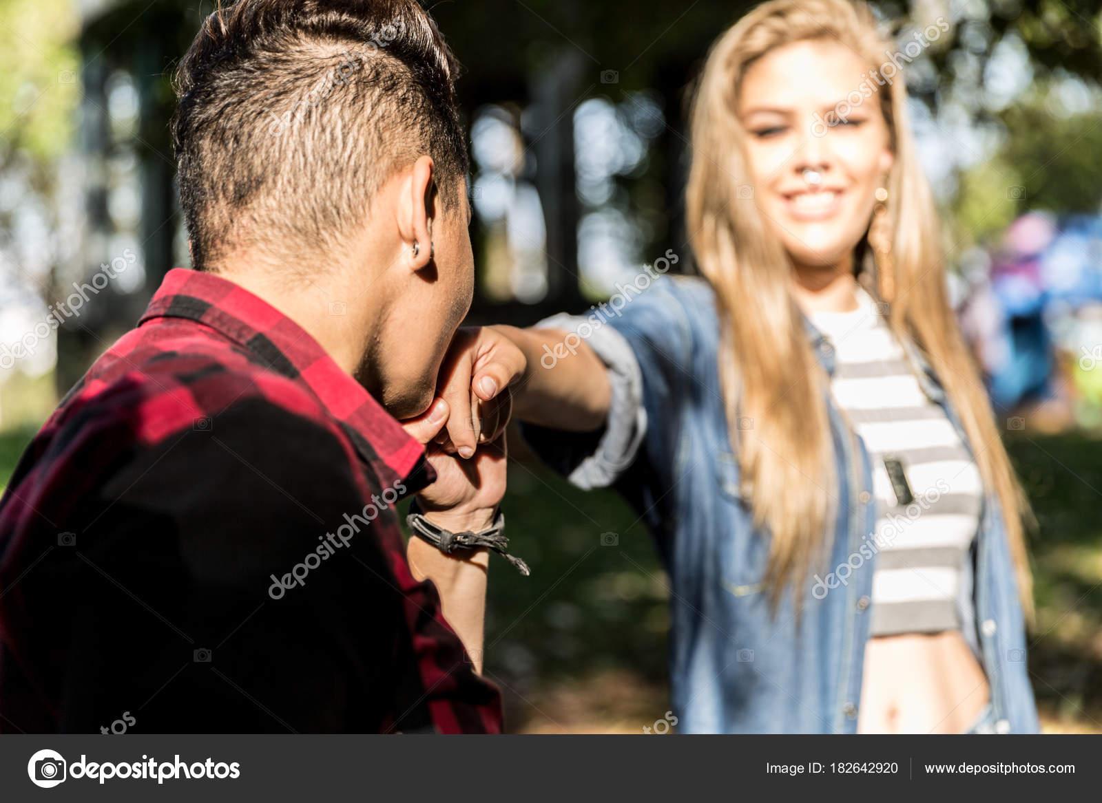 Lesbe und Mädchen