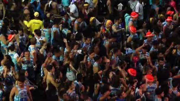 SALVADOR, BAHIA / BRAZIL - FEBRUARY 09 2018: The Popular Carnival of Salvador in Bahia, Brazil