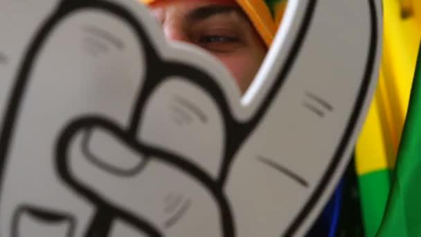 Brazilian Fan Celebrating at Home