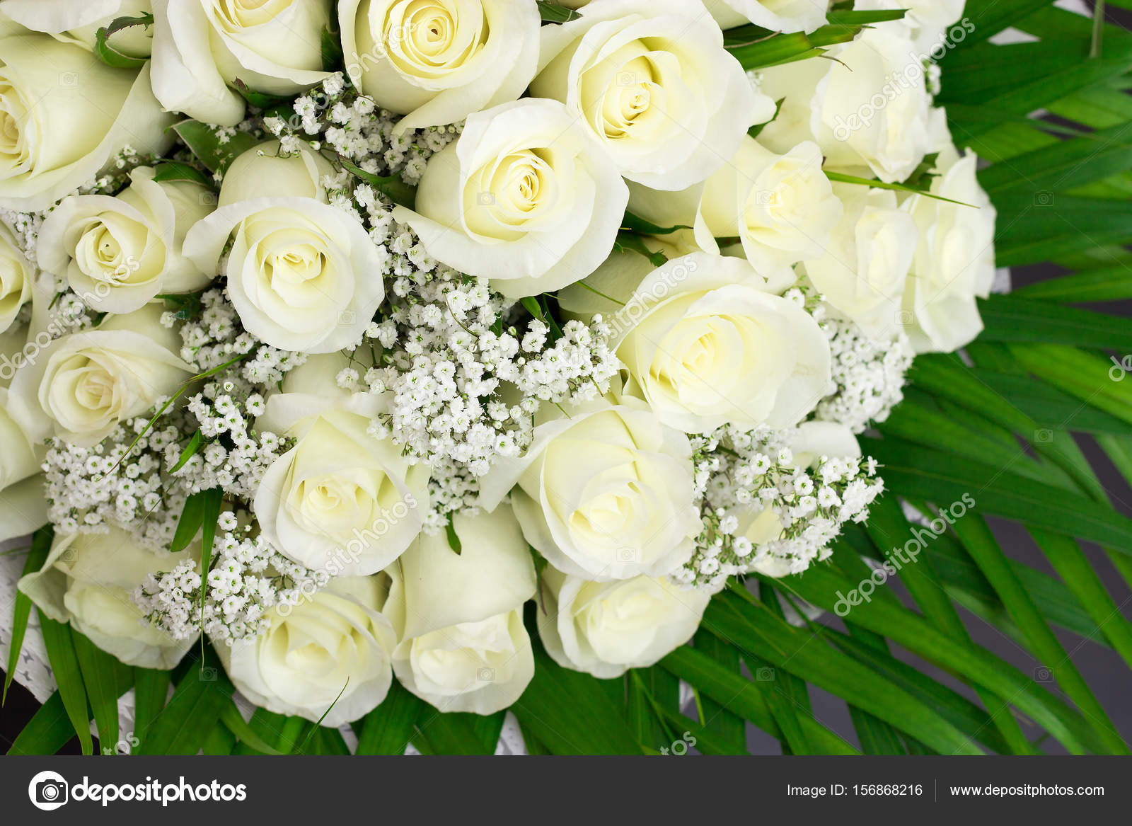 Elegant Bouquet Of Lots White Rose Stock Photo Alju 156868216