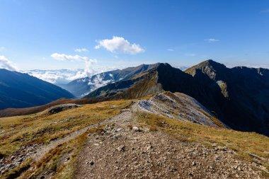 slovakian carpathian mountains in autumn.