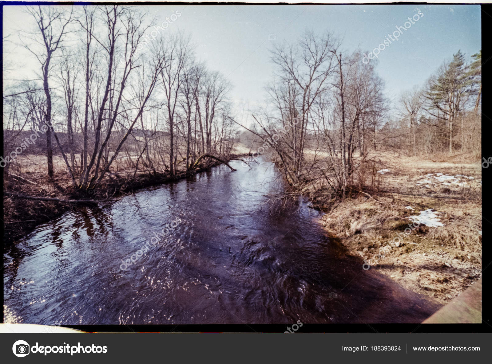Imperfect Color Slide Film Scan With Dust And Scratches Country Stock Photo Image By C Martinsvanags 188393024