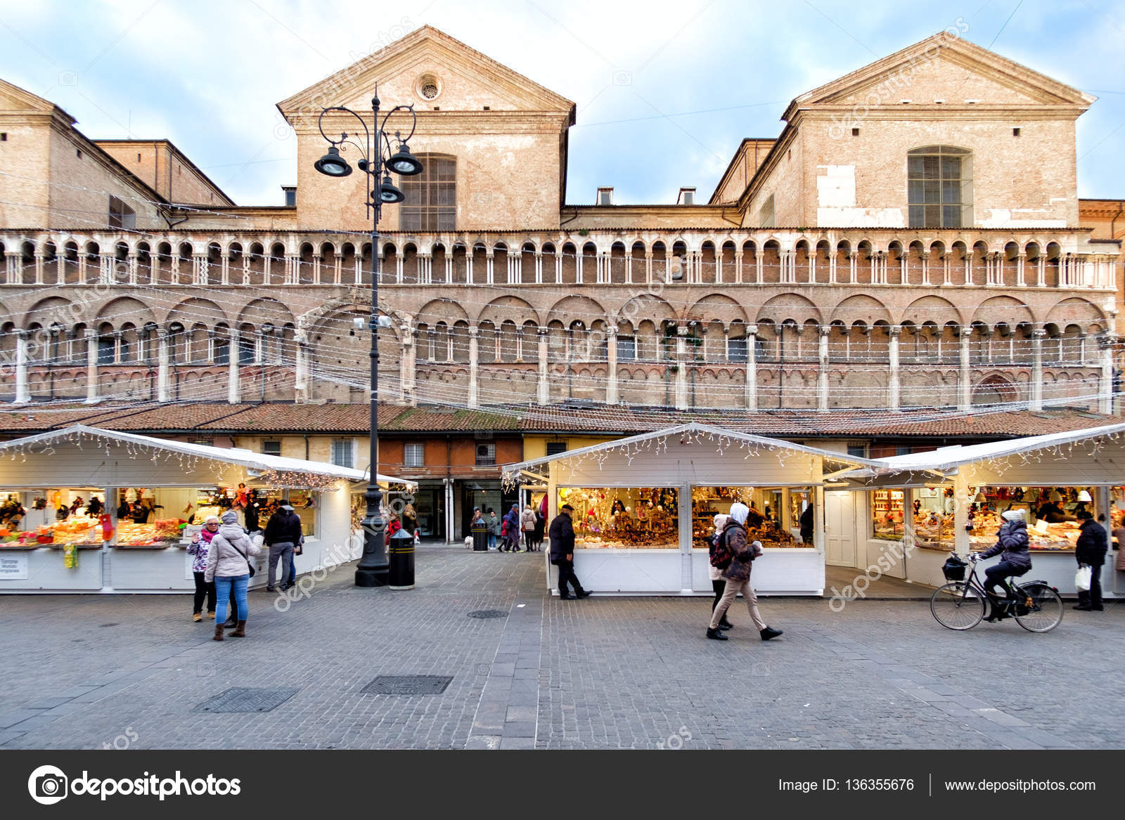 Exceptional Christmas Markets In Ferrara, Italy U2014 Stock Photo