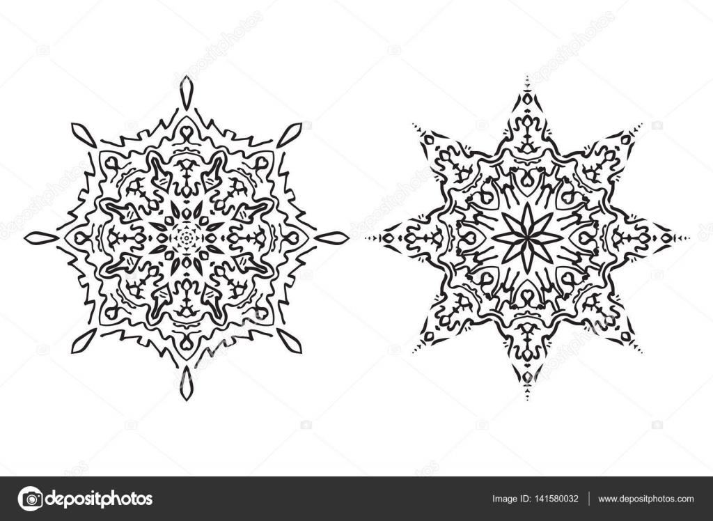Ilustración de vector patrón de un mandala. Círculo geométrico ...