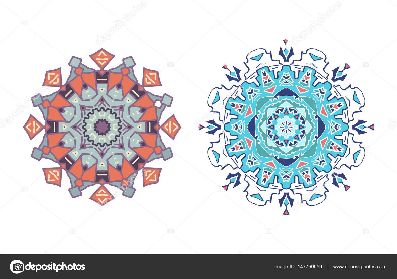 Mandala In Einem Vektor Ein Muster Flaches Design Element Geburtstag