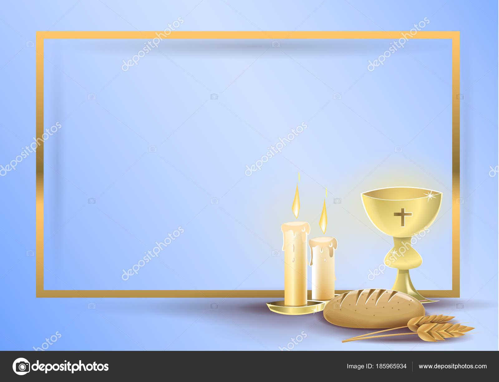 Premiere Carte D Invitation Religieuse De Communion Image