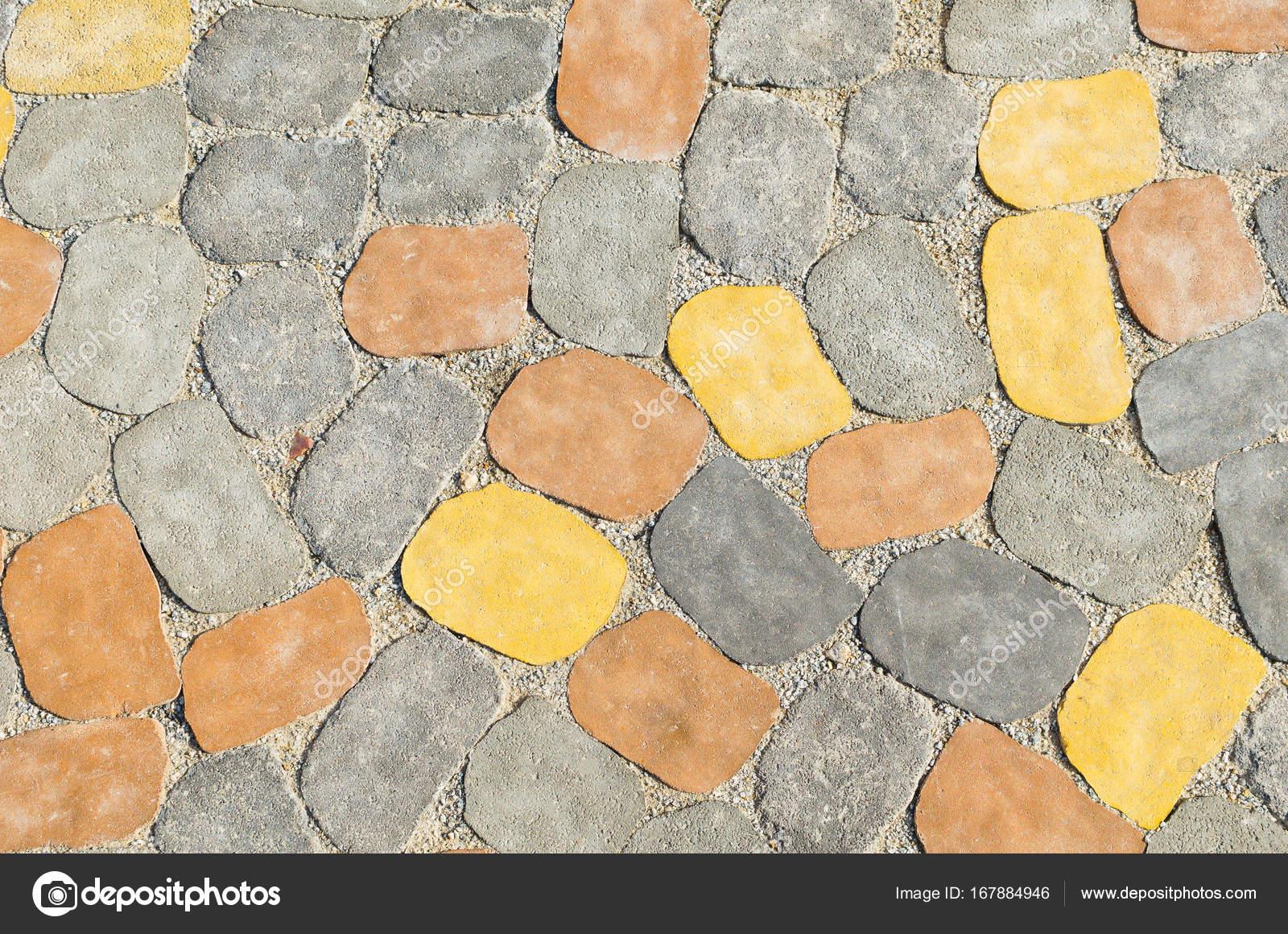 Piastrelle Di Cemento Colorato : Struttura sfondo delle mattonelle di pavimentazione in