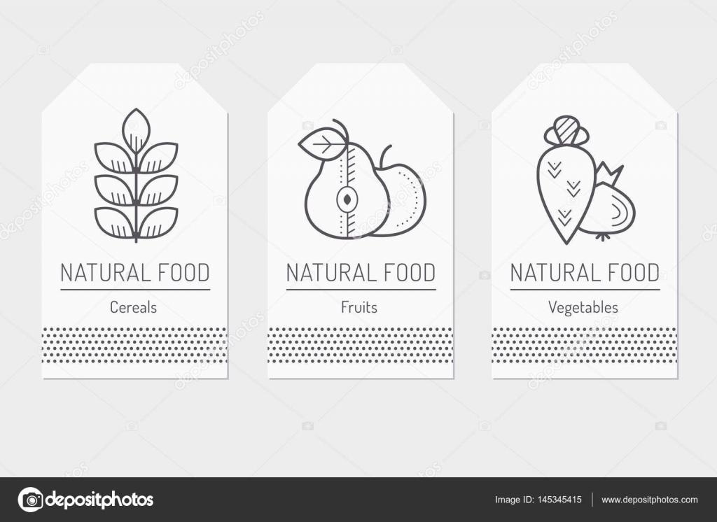 Conjunto de plantillas de tarjetas con las muestras de alimentos de ...