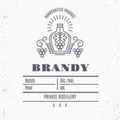 Etnikai elemek vékony vonal stílus Vintage alkohol ital cimke-minta.