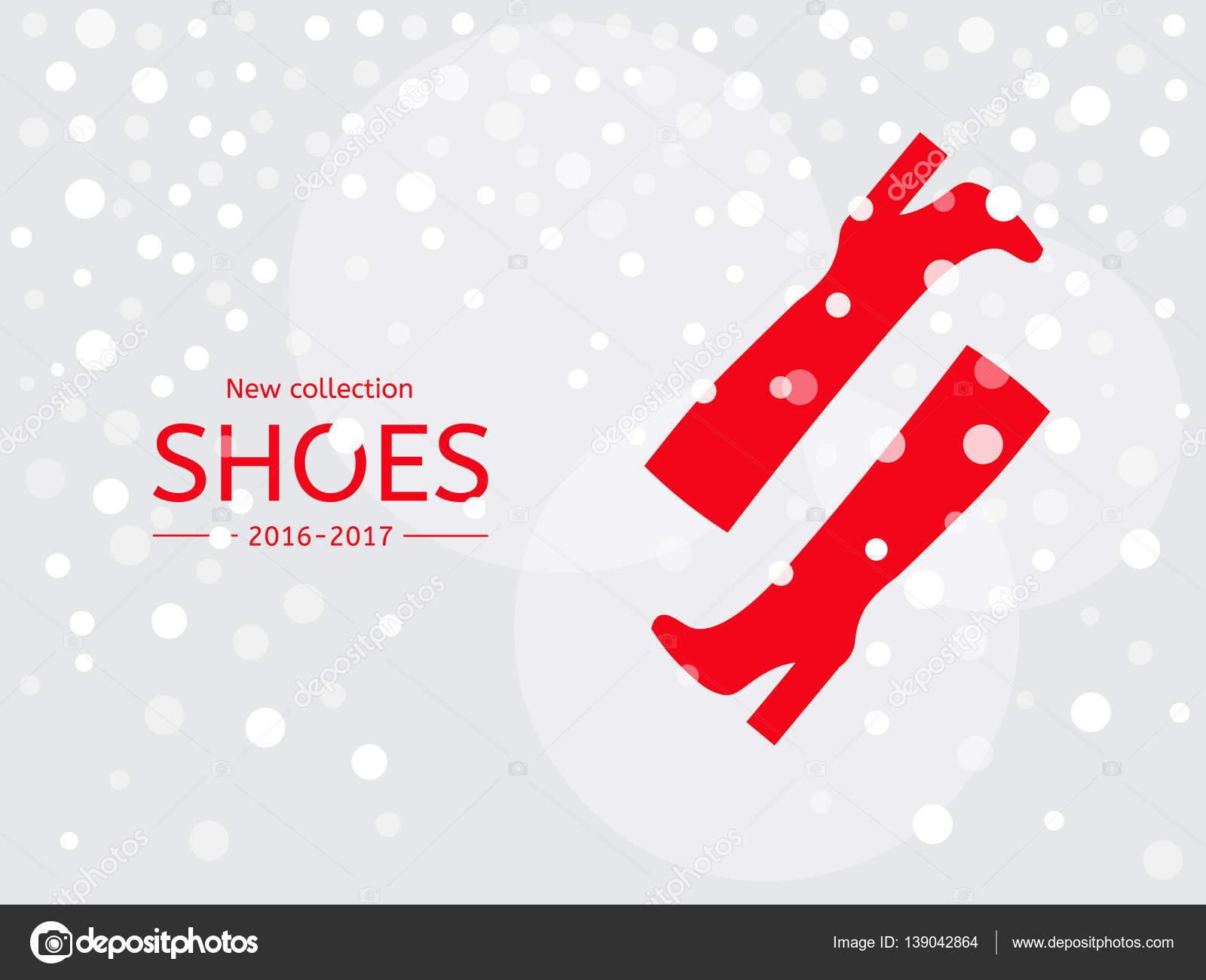 fce5a46fbb8 Κόκκινες γυναικείες μπότες στο παρασκήνιο χιόνι– εικονογράφηση αρχείου