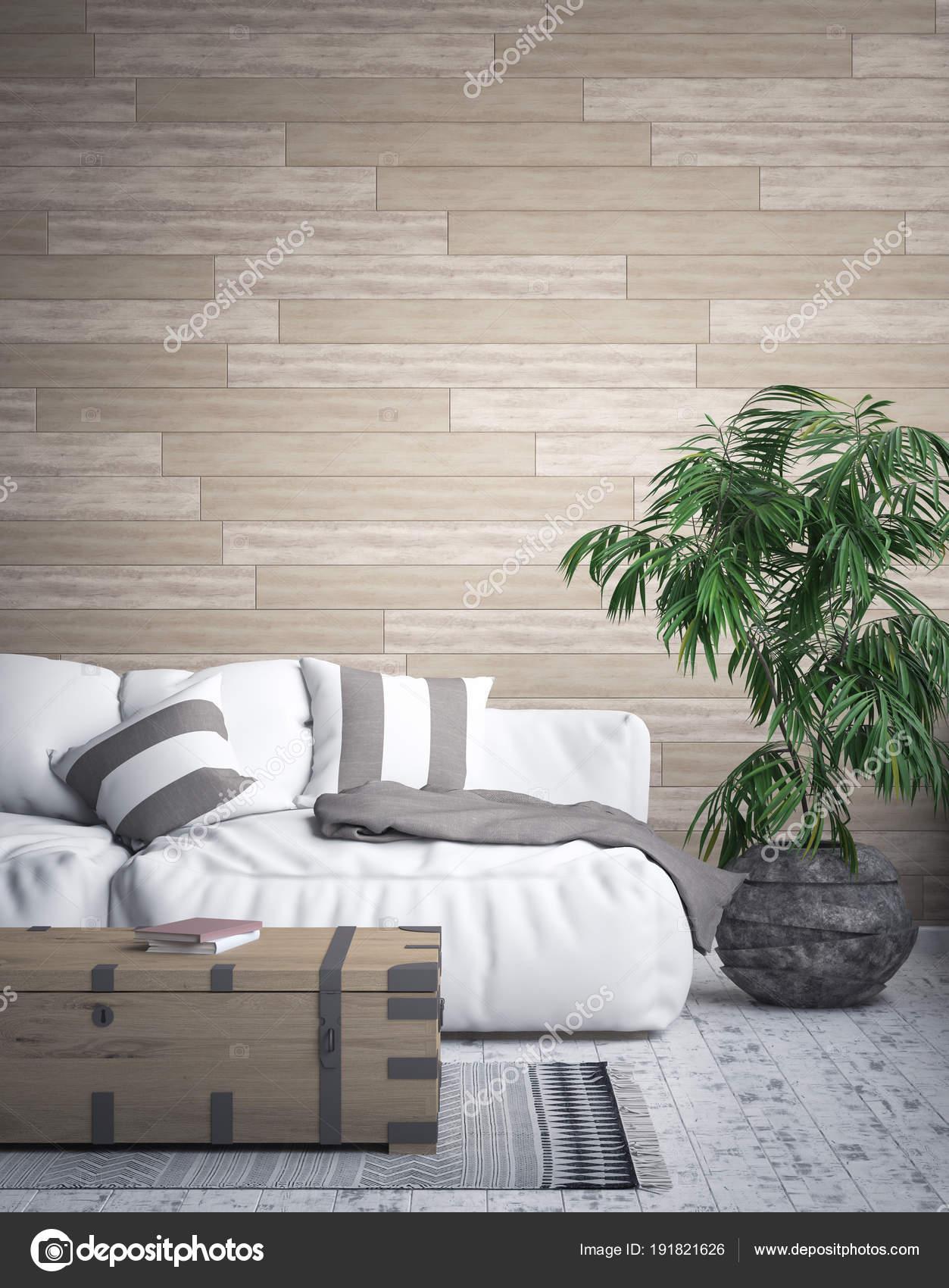 Tropisch Interieur Achtergrond Render — Stockfoto © Artjafara #191821626