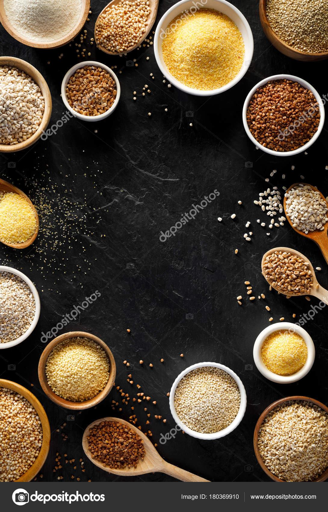 ひき割り穀物 穀物の様々 ひき割...