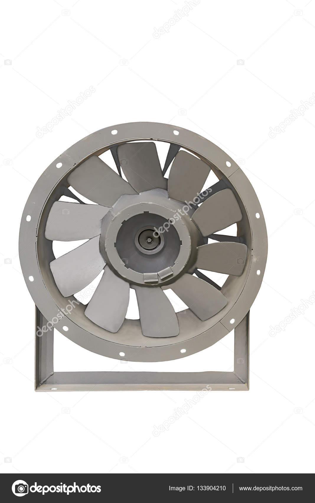 Moderne Ventilatoren modernen industriellen ventilatoren closeup isoliert auf weißem