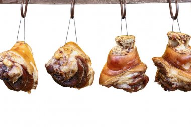 smoked pig's feet, a favorite dish in many Nations of the world