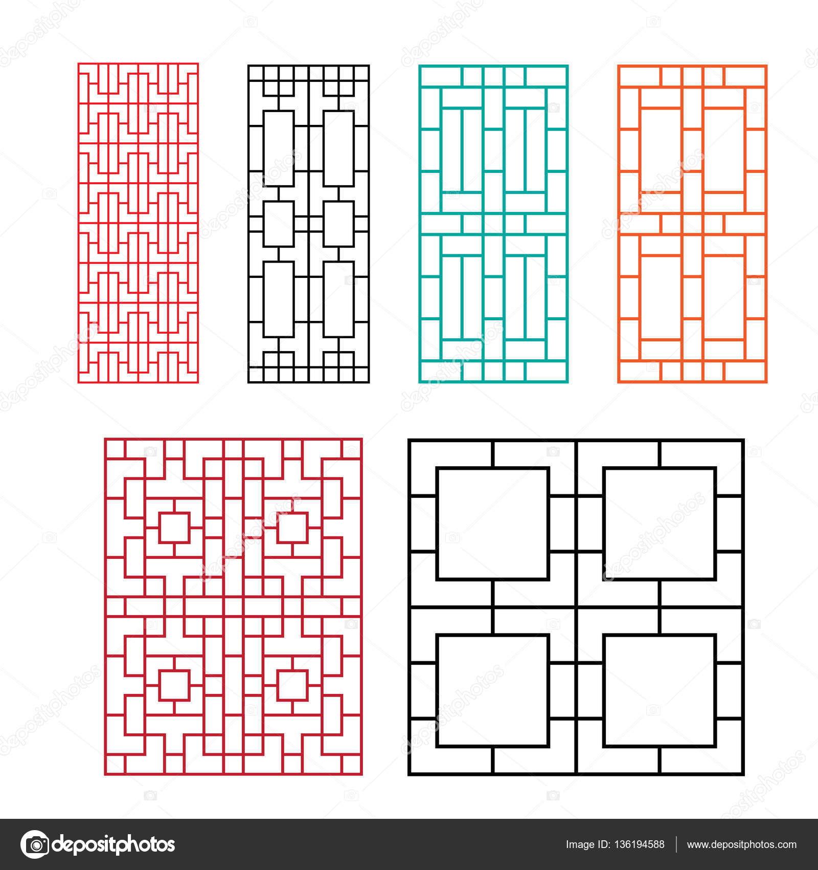 Chinese Fence Design Chinese ornament for door window wall and fence stock vector chinese ornament for door window wall and fence stock vector workwithnaturefo