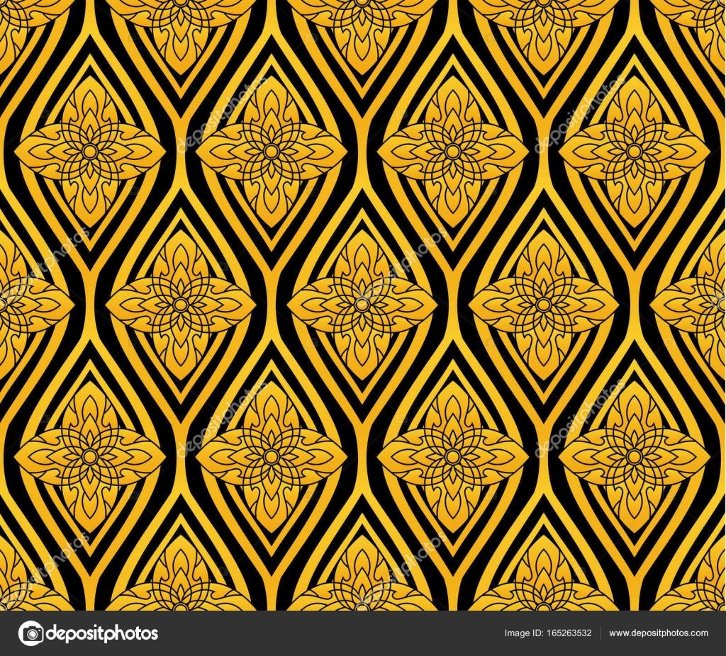 Shiny lotus flower pattern in thai style vector stock vector shiny lotus flower pattern in thai style vector stock vector izmirmasajfo
