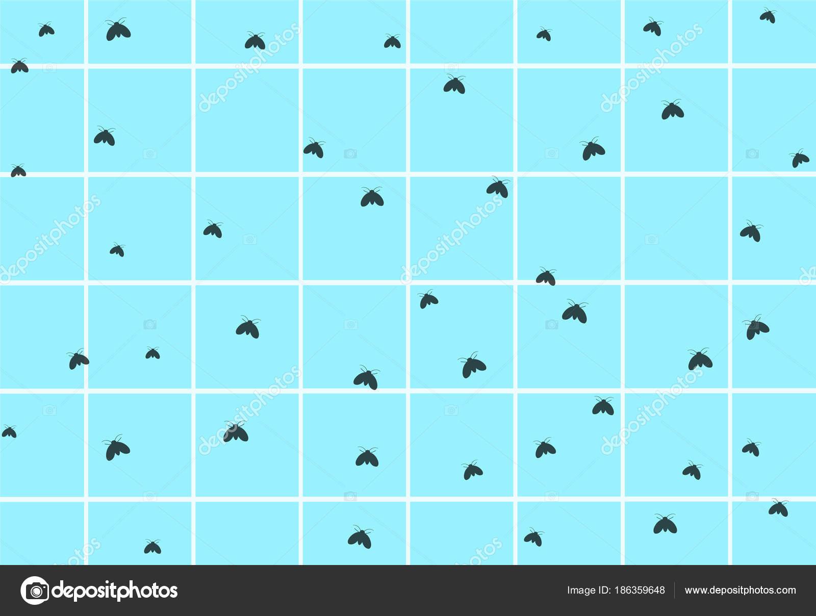 Psychodidae Salle De Bain ~ beaucoup de vidange mouche sur le mur de salle de bains sales