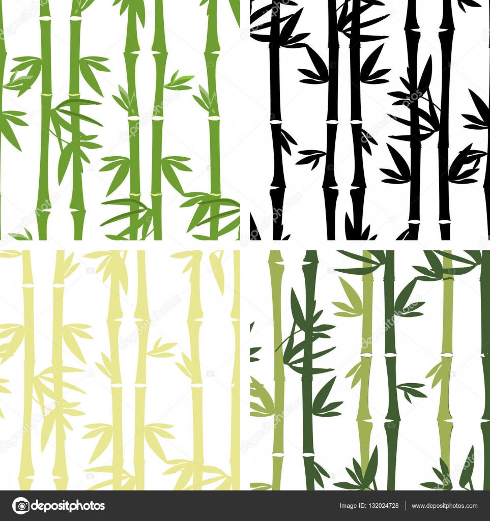 Patron de bambu | patrón sin costuras de bambú — Vector de stock ...