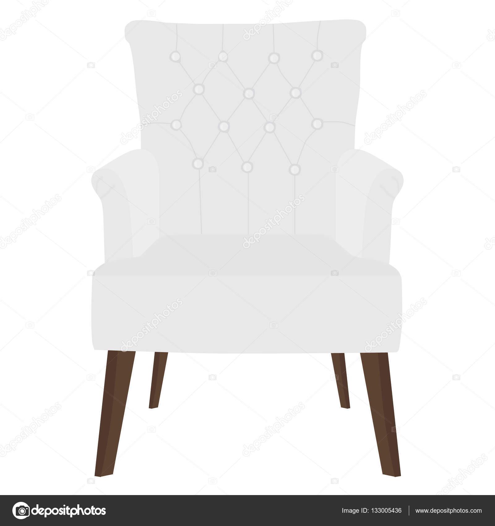Fauteuil blanc moderne — Image vectorielle viktorijareut ©