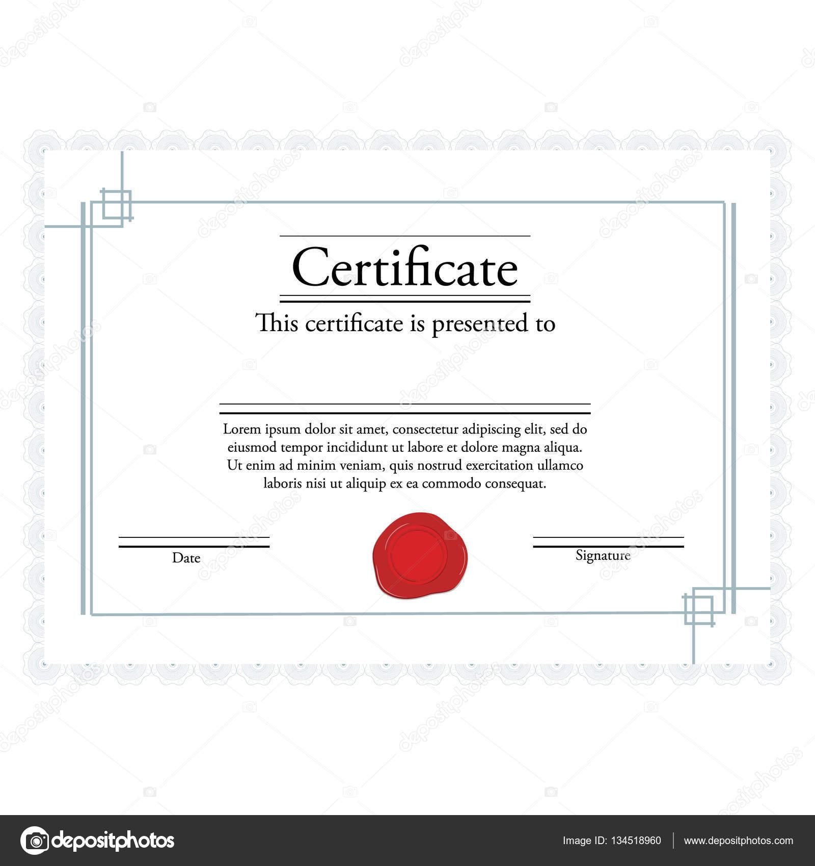 Zertifikat-Vektor — Stockvektor © viktorijareut #134518960