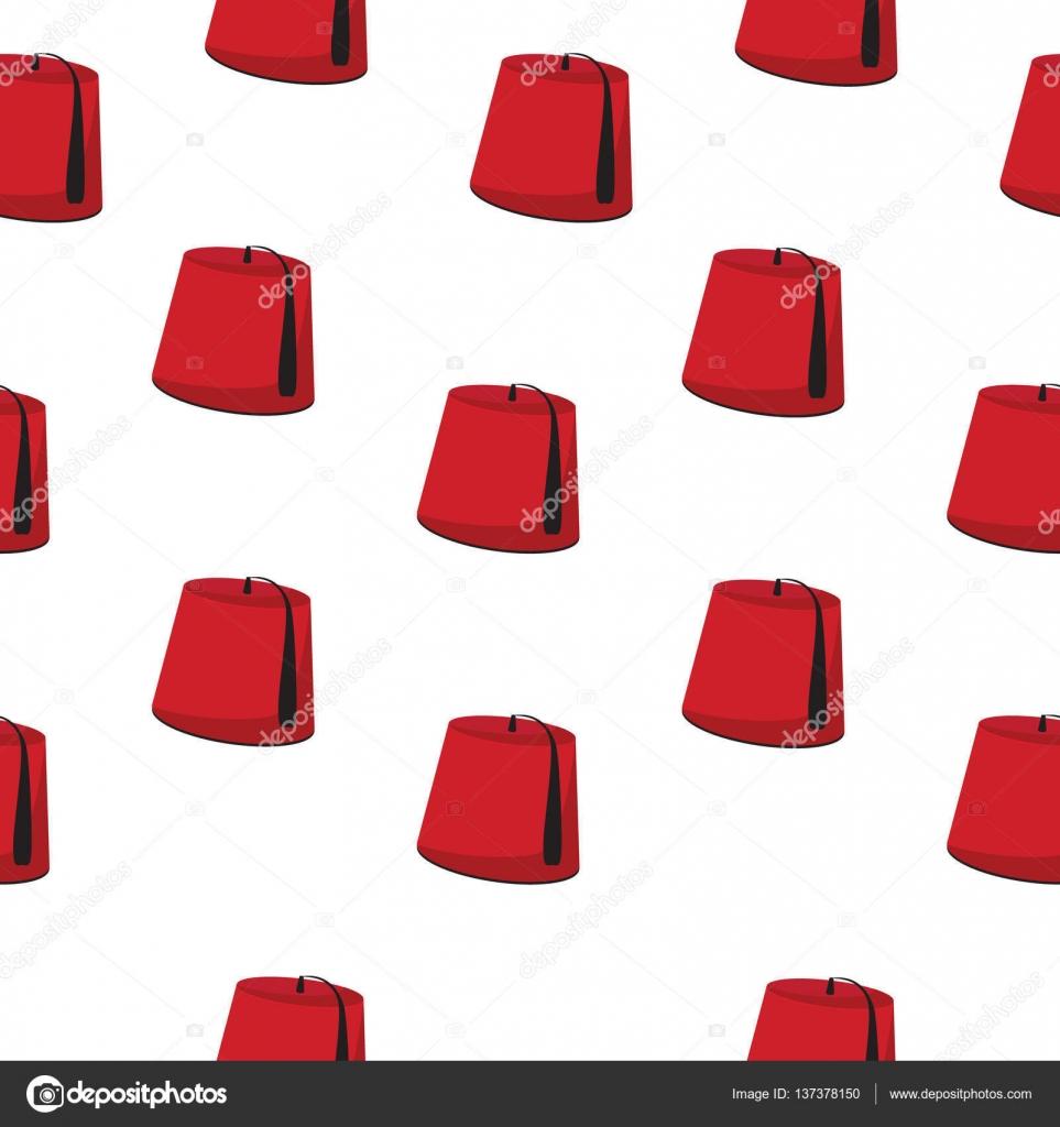 Vector ilustración de patrones sin fisuras con el sombrero turco a2926fb7d60