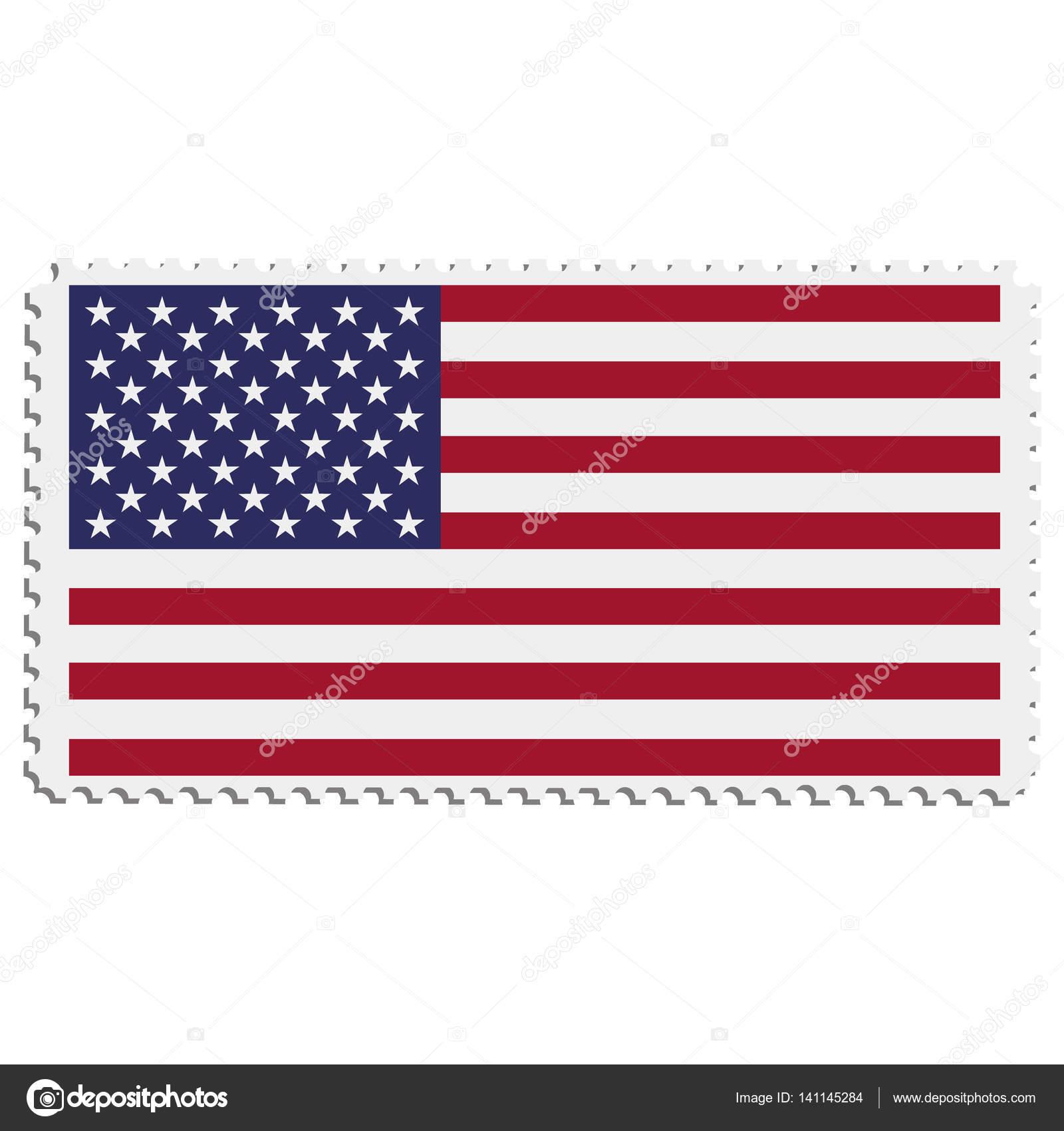 Bandera americana en estampilla — Foto de stock © viktorijareut ...