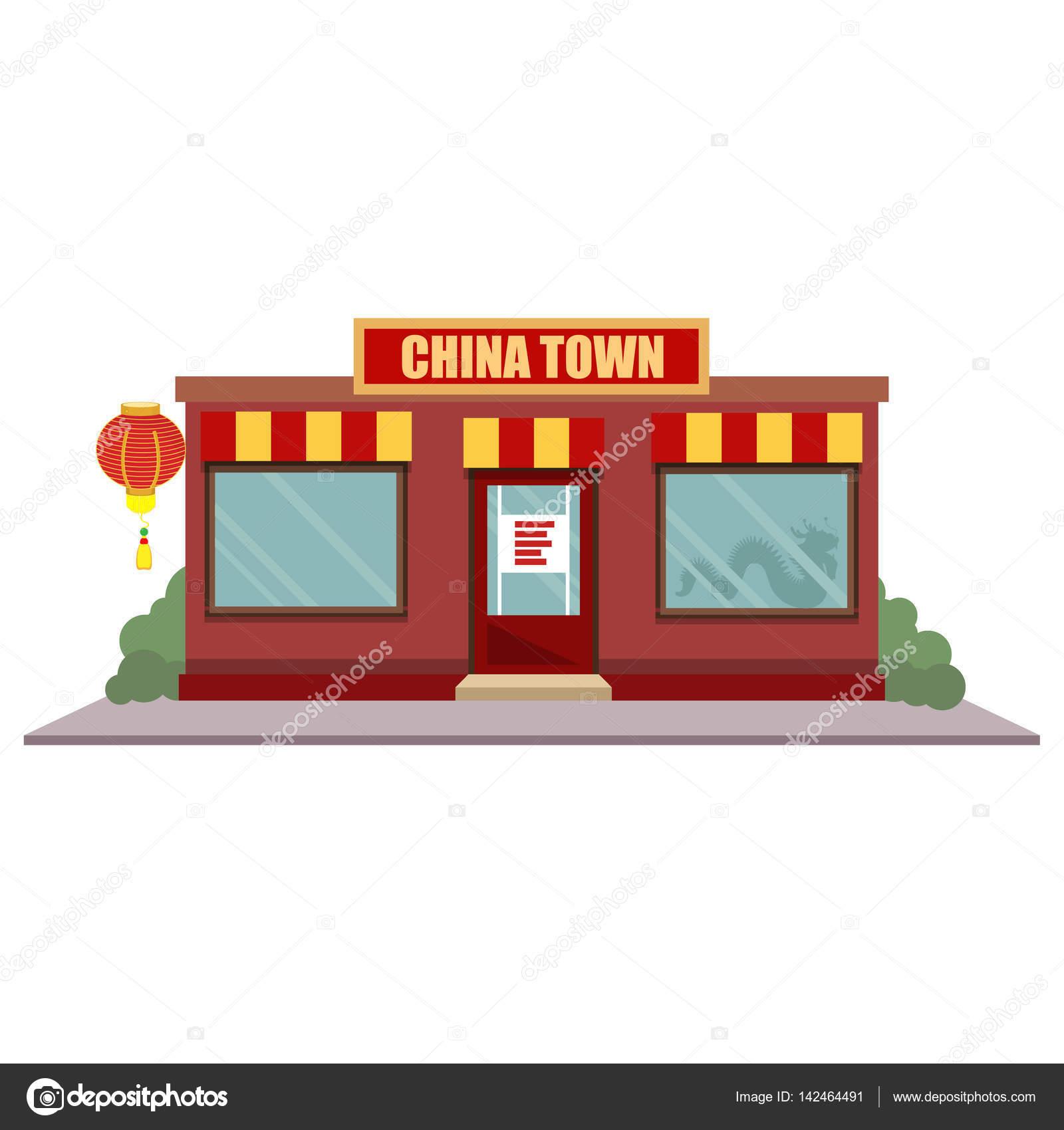 China Town restaurant — Stockvektor © viktorijareut #142464491