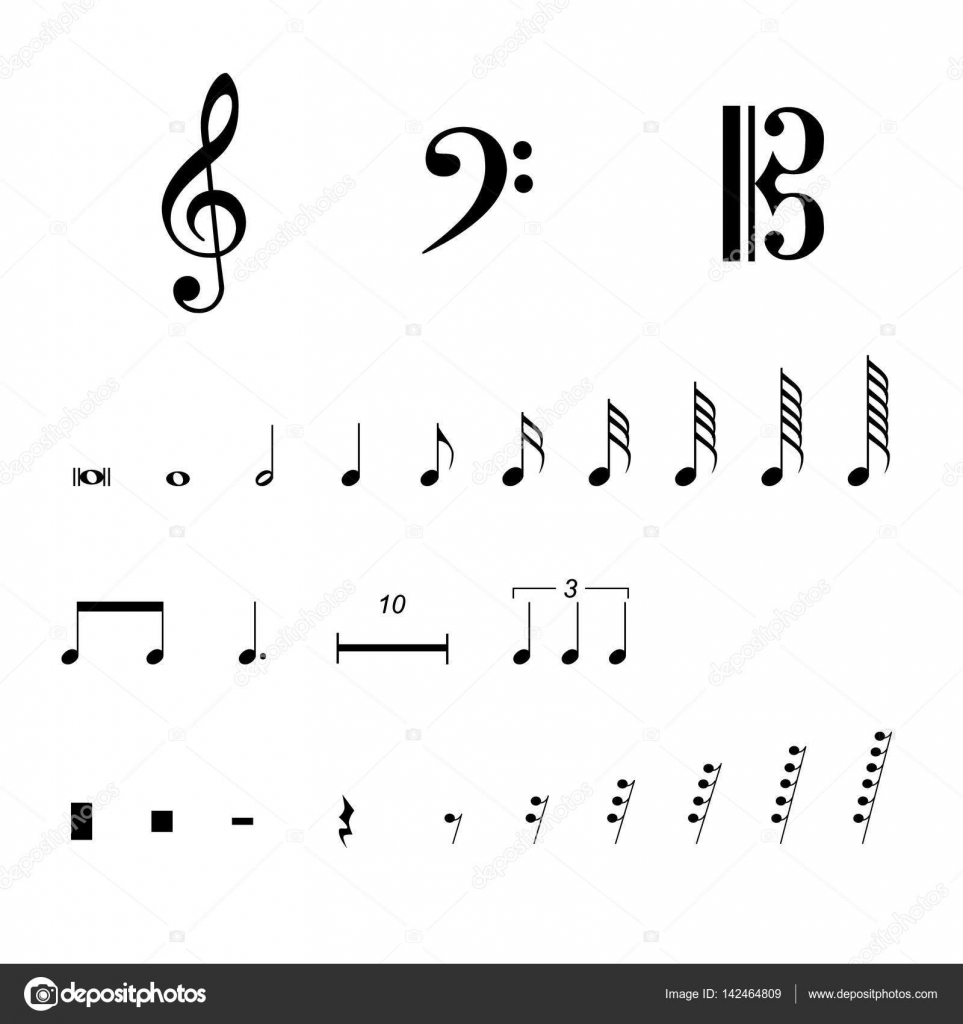musical notation symbols � stock vector 169 viktorijareut