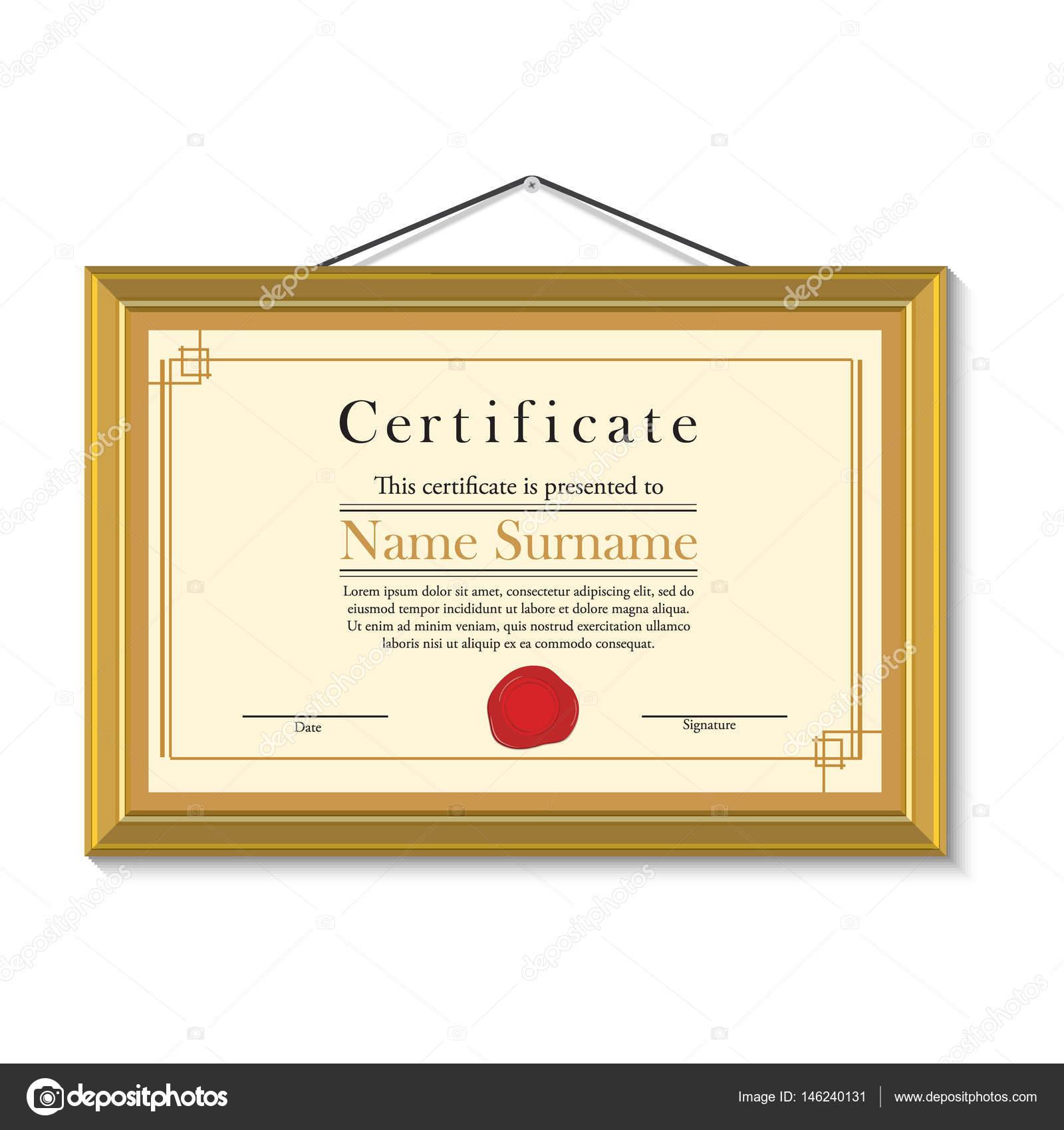 Zertifikat im goldenen Rahmen — Stockfoto © viktorijareut #146240131