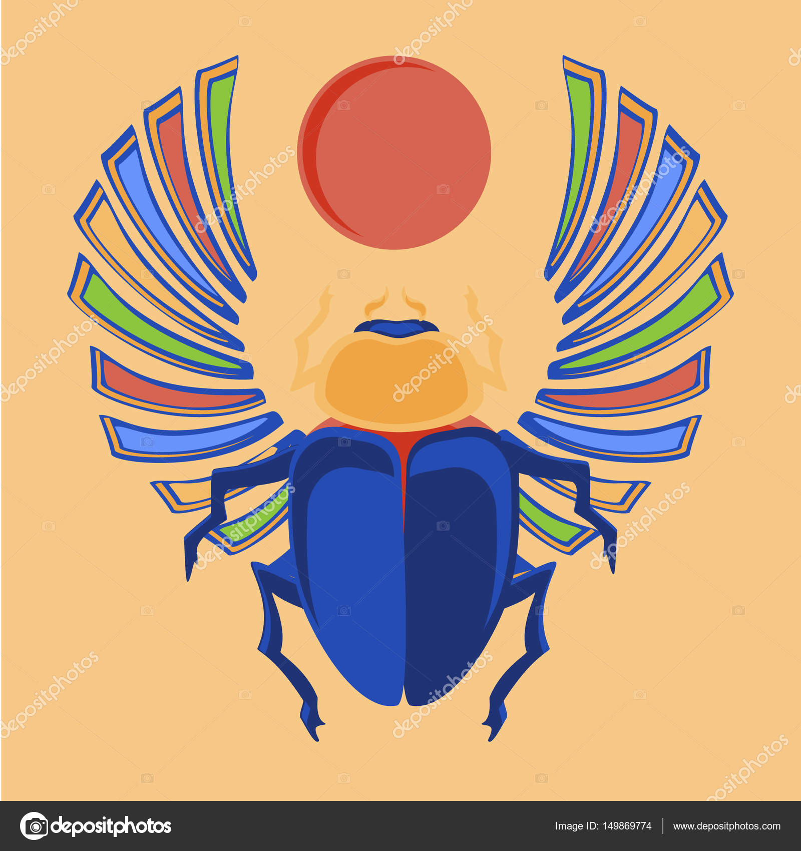 Egyptian Scarab Raster Stock Photo Viktorijareut 149869774
