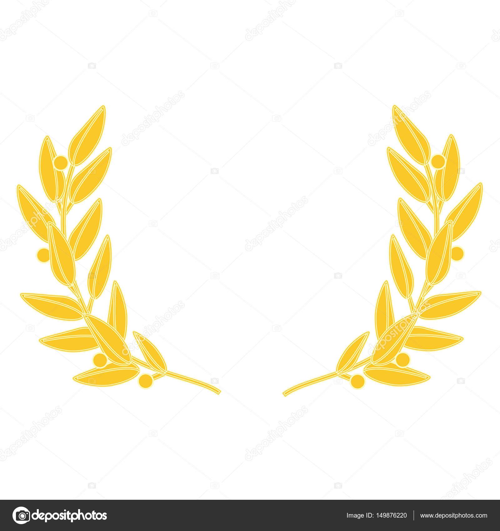Rastrový obrázek zlatý věnec izolovaných na bílém pozadí. Vavřínový věnec —  Fotografie od ... 947e6fcfa2