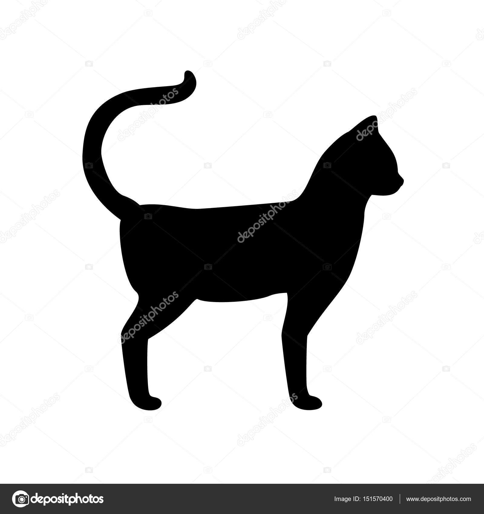 Trama de silueta de gato — Foto de stock © viktorijareut #151570400