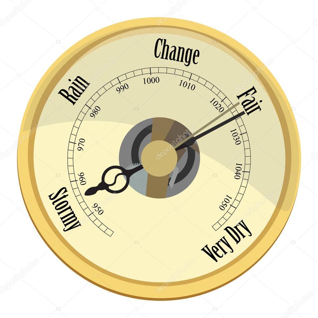 Golden barometer raster
