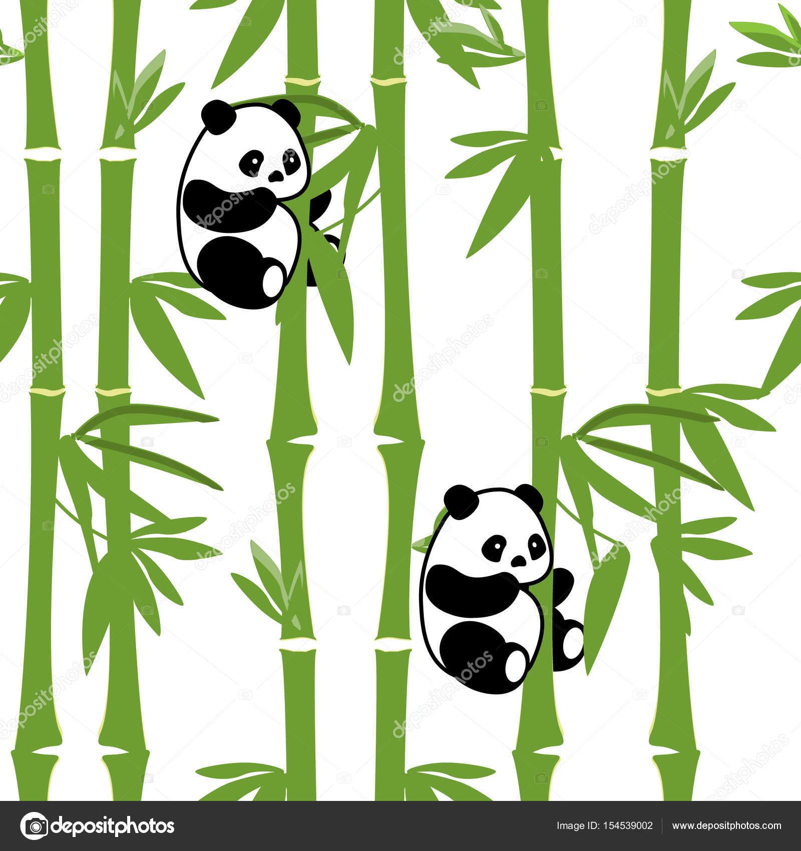 patrón sin costuras Panda — Archivo Imágenes Vectoriales ...