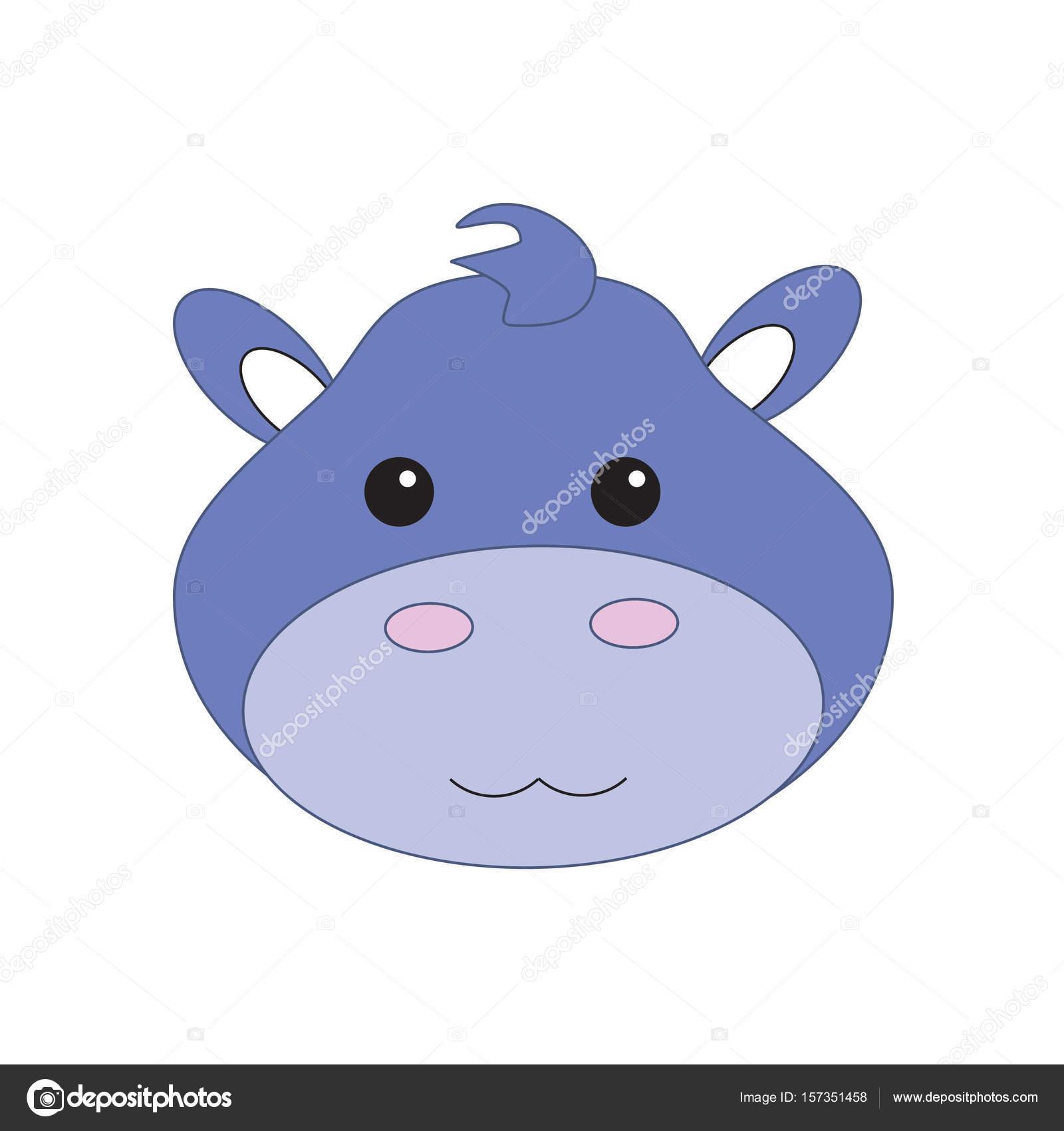 hippo face template - 600×600