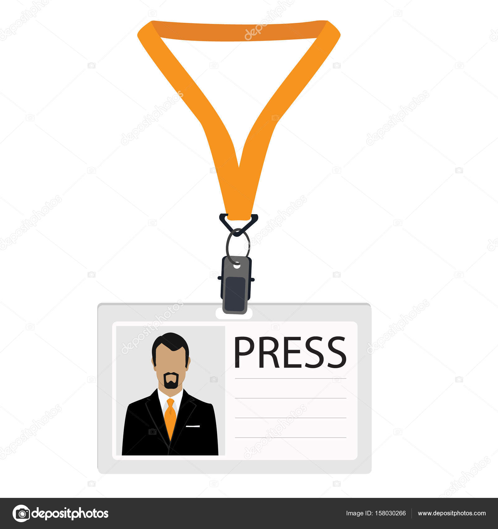 press badge template
