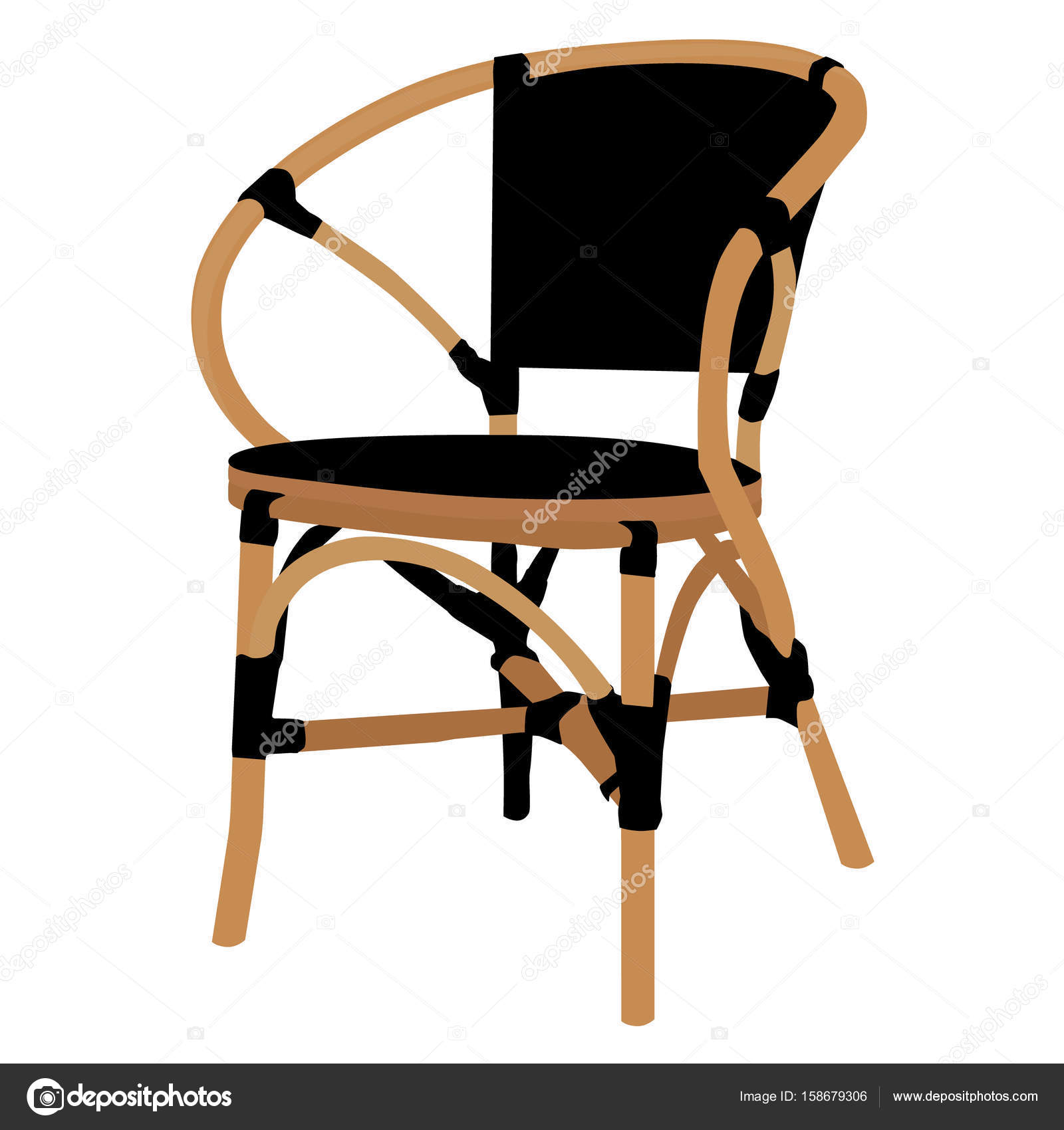 bambus stuhl raster — stockfoto © viktorijareut #158679306