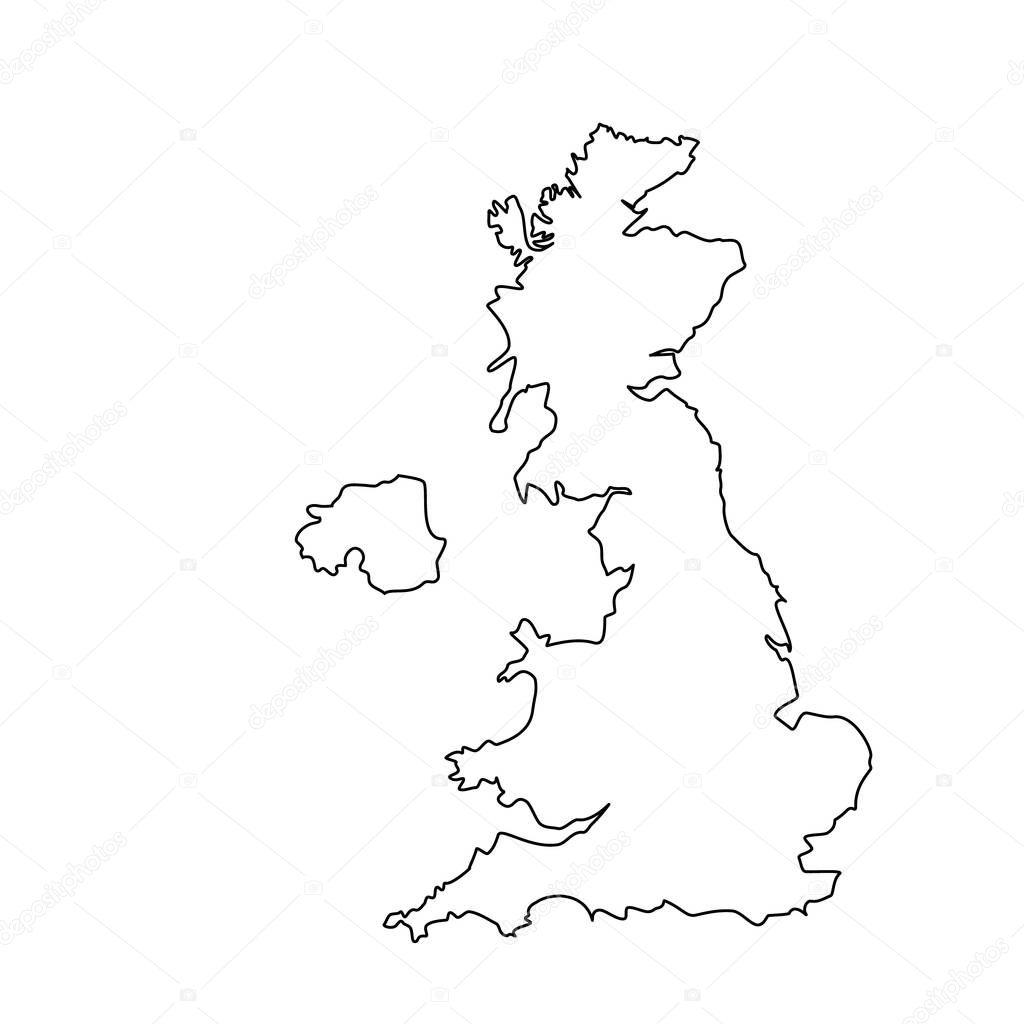 Kontur Mapa UK — Zdjęcie stockowe © viktorijareut #159651614