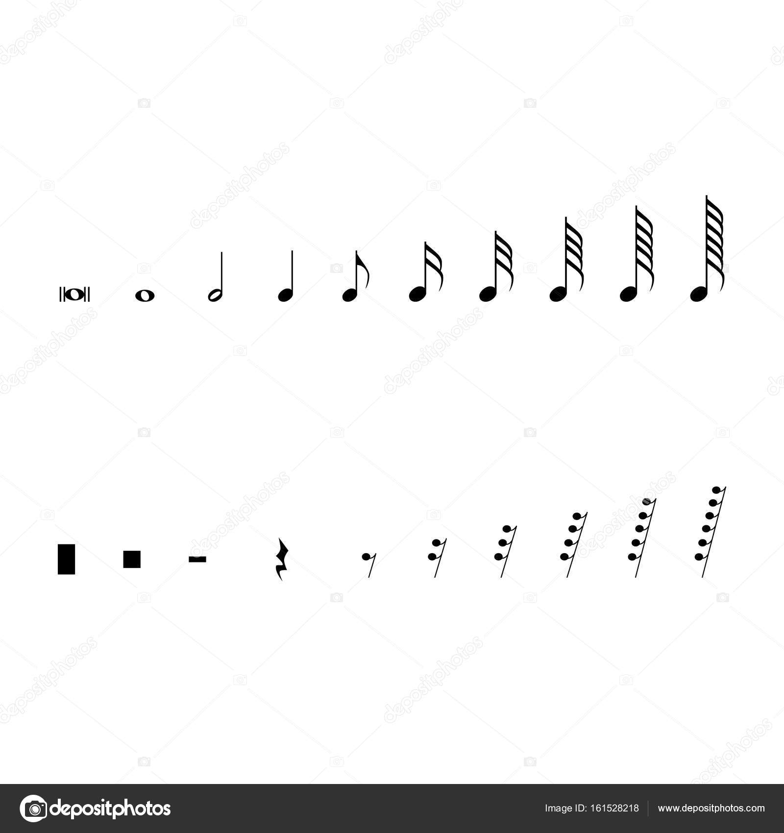 Musical Notation Symbols Stock Photo Viktorijareut 161528218