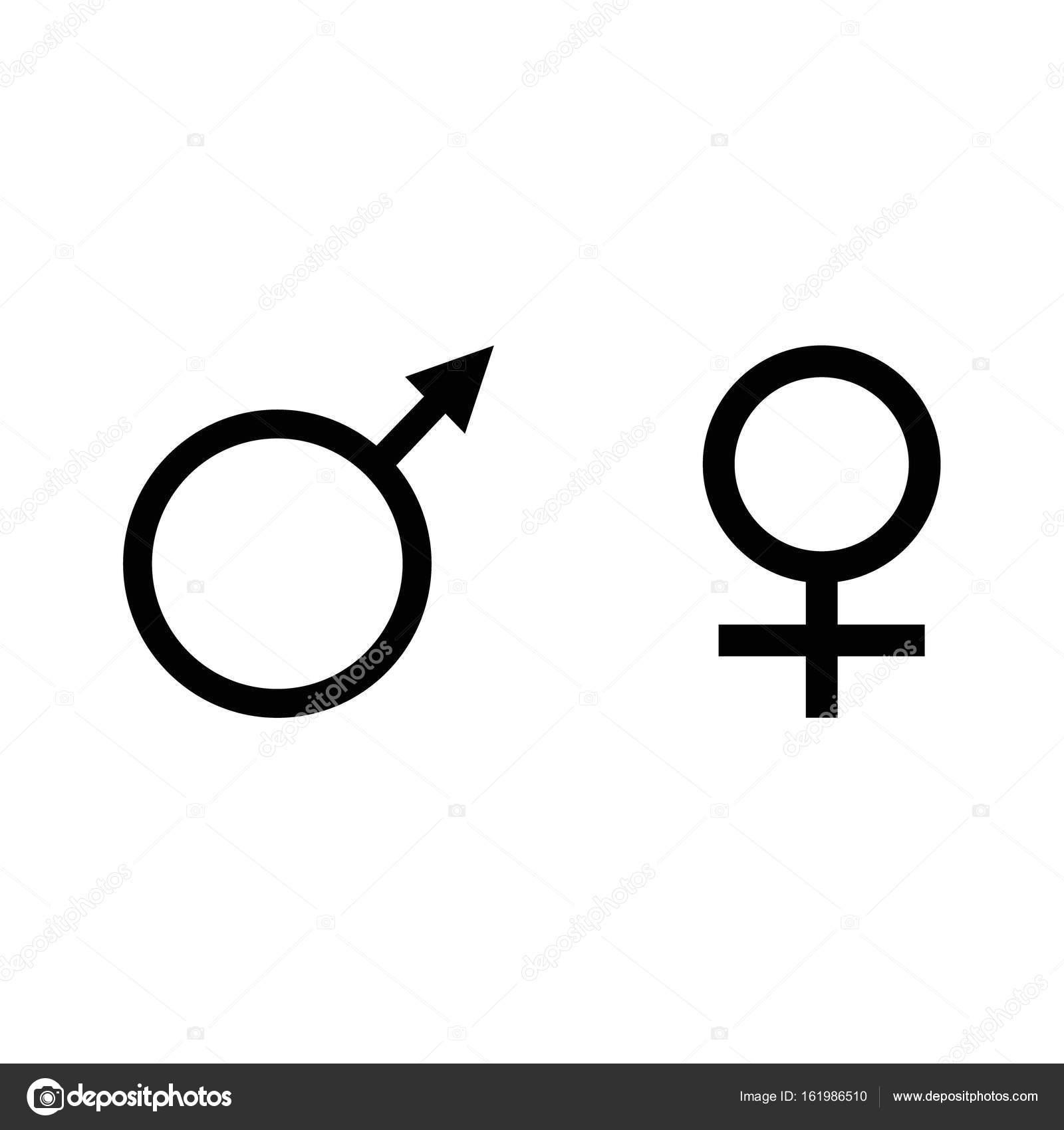 Gender Symbols Vector Stock Vector Viktorijareut 161986510