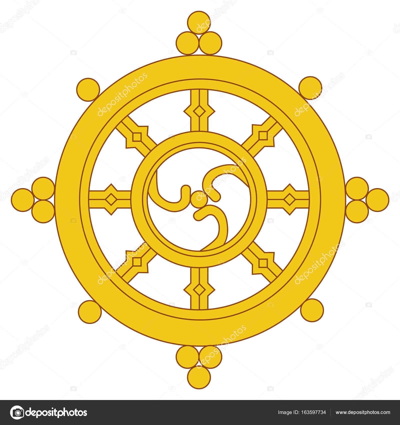 Dharma Wheel Raster Stock Photo Viktorijareut 163597734