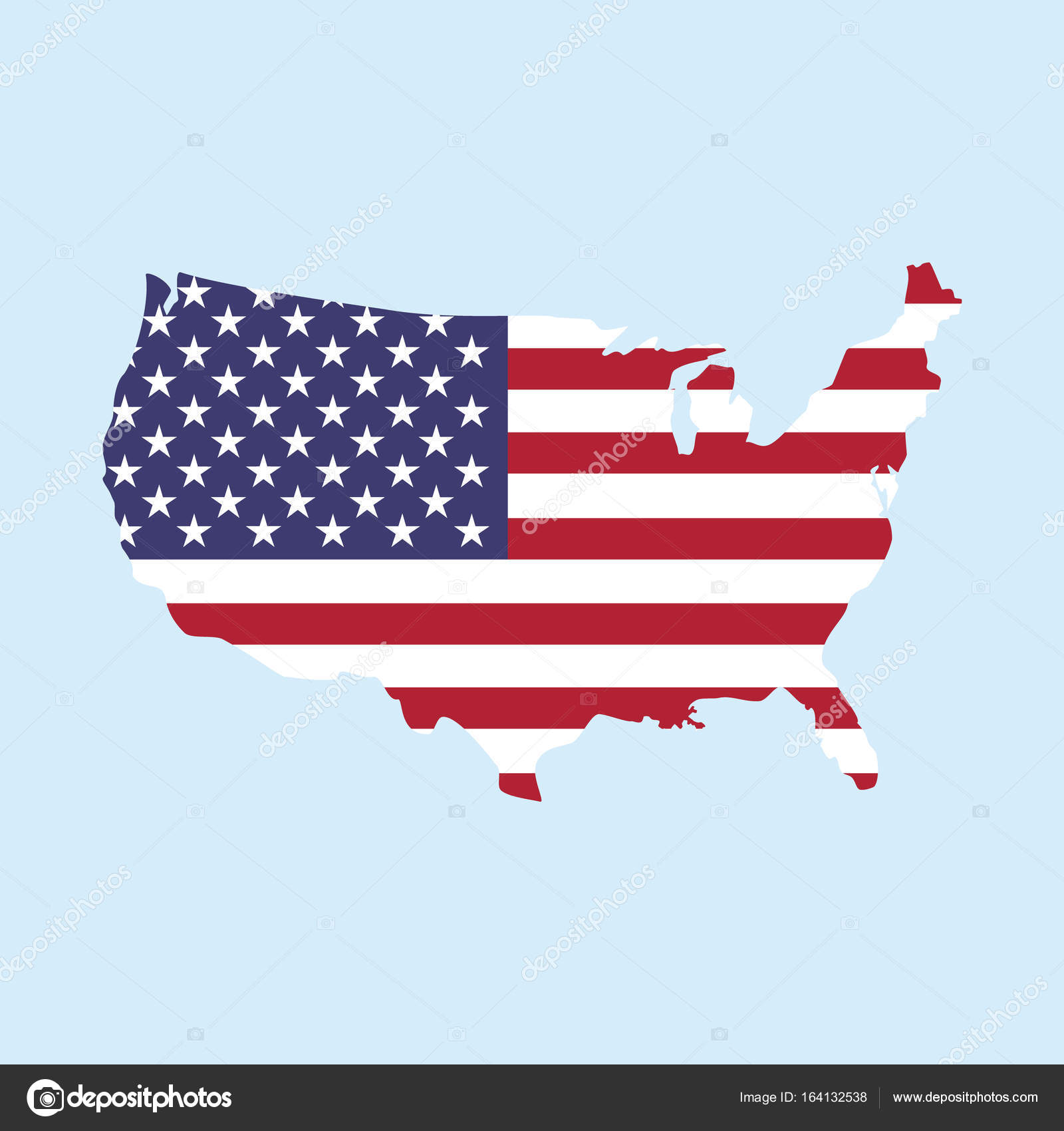 USA map icon — Stock Photo © viktorijareut #164132538