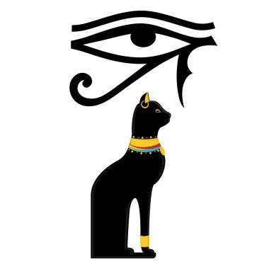 Horus eye and Egypt cat