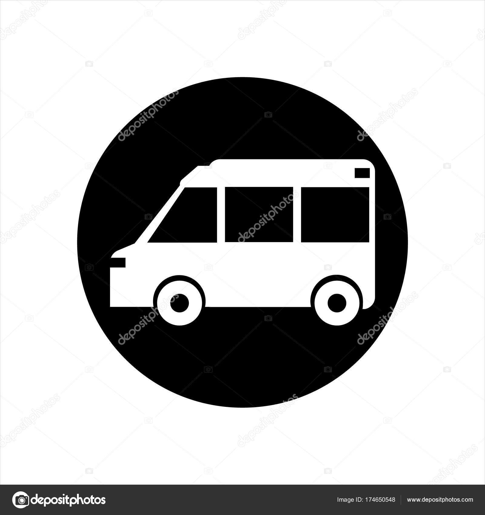 Icono de vehículo de transporte — Foto de stock © viktorijareut ...