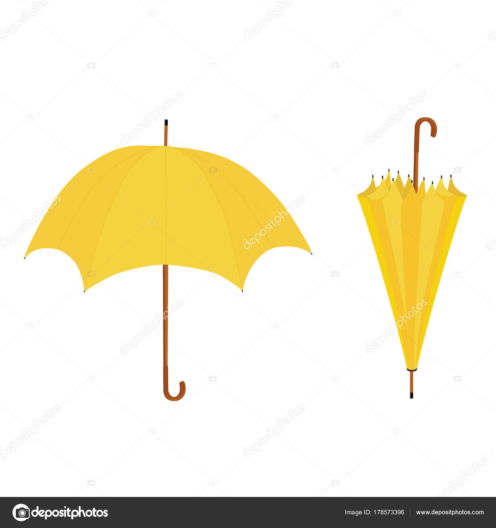 f35cc2454 Yellow umbrella open closed — Stock Photo © viktorijareut #178573396