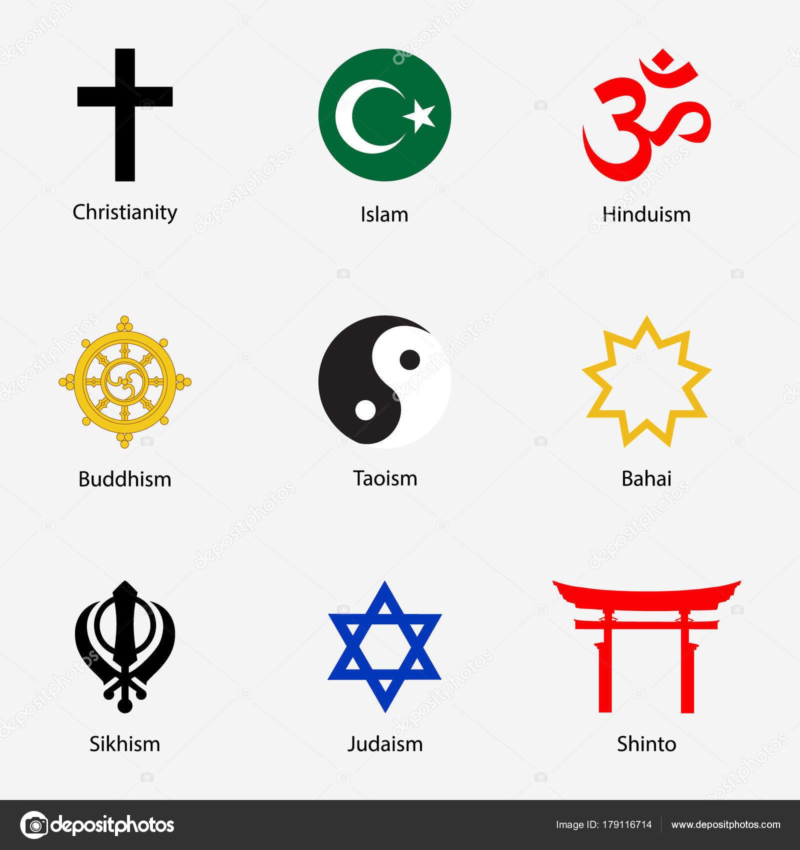 Religious Symbols Set Stock Photo Viktorijareut 179116714